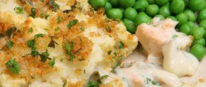 Merluzzo con formaggio gratinato