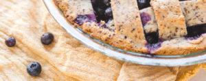 Crostata vegana ai mirtilli