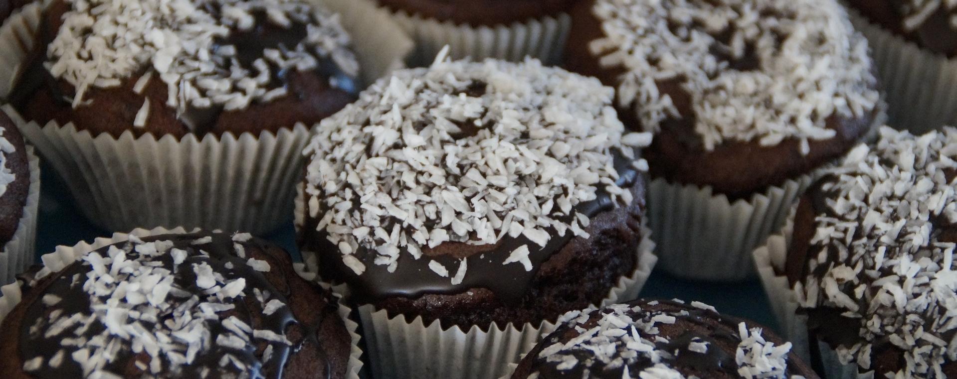 Muffin al cocco e cacao (con lievito per dolci)
